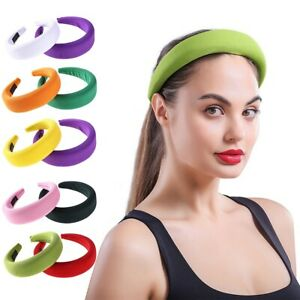 Women's Padded Headband Hairband Satin Hair Band Hoop Accessories Party Headwear