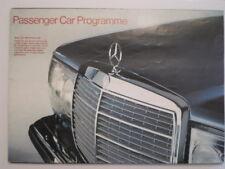 MERCEDES BENZ RANGE orig 1977 UK Mkt Brochure - 600 280 350 450 SE SEL SL SLC CE