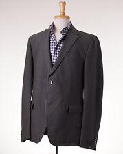NWT $895 Z ZEGNA Slim 'Drop 8 Deco' Gray-Green Linen-Wool Sport Coat 44 L (Eu54)