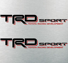 "TOYOTA TACOMA TRD SPORT DECALS STICKERS (2) 18""X3"" DECALS BLACK & RED"