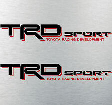 """TOYOTA TACOMA TRD SPORT DECALS STICKERS (2) 18""""X3"""" DECALS BLACK & RED TRUCK"""