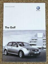 2007 VW GOLF Mk5 PRICE LIST - R32 GTI Edition 30 GT Sport Match S