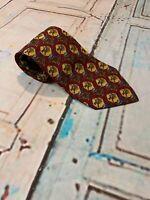 Salvatore Ferragamo Mens Necktie Mens Tie Silk Made in Italy Horse Derby