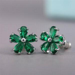 1Pair Fashion Women Lady Elegant Flower Rhinestone Crystal Ear Stud Earrings New