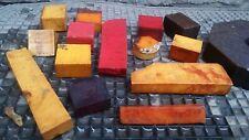 Orig. German Antique Old amber Bakelite / Catalin Block Sample pack 1000 Gramm