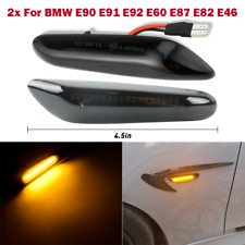 Dynamic Smoke LED Side Marker Turn Signal Lights For BMW E90 E91 E92 E93 E46 E60