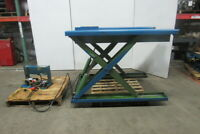 "2000Lb Cap. Ground to 42"" Hydraulic Scissor Lift Table 65""x34"" 115V 1Ph"