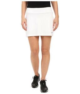 NEW! NIKE [L] Womens Bogalicious Golf Skort-White/Silver 725787-100