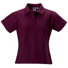 Camicia polo da donna a manica corta rossi
