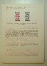 1960  ITALIA  Bollettino Postale N° 65 Anno Del Rifugiato