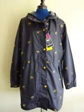 JOULES NAVY Blue GO LIGHTLY Umbrella DUCKS HOODED RAINCOAT Jacket WOMANS SIZE 12