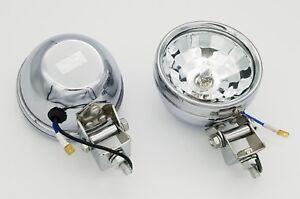 Clear Halogen Driving Spotlight with holding clamp Chrome Spot Light Fog Light