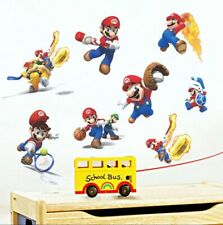 Super Mario Brothers Sports Wall Decal Childs Bedroom  Game Room Peel & Stick