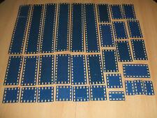 Märklin Metallbaukasten verschiedene Bleche blau/silber bespielt siehe Foto