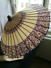 ASIAN JAPANESE CHINESE PARASOL OIL PAPER BAMBOO UMBRELLA DECOR