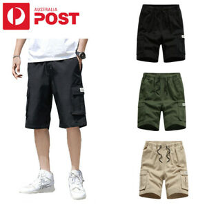 Men Plus Size Casual Cargo Shorts Breathable Sports Outdoor Work Pants Cottion