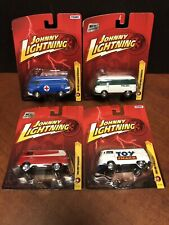 Johnny Lightning Volkswagen Transporter Bus Lot Of 4 EM3801