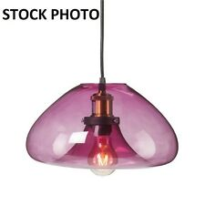 Southern Enterprises Zara Colored Glass Pendant Lamp