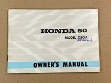 Used Genuine Honda Z50A Owners Manual