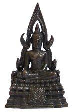 Figurine statuette Bouddha sur trône Thailande décoration bronze