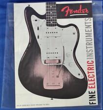 Fender 1959 Downbeat Insert 6 Page Guitar Catalog Reprint P/N 0995503007