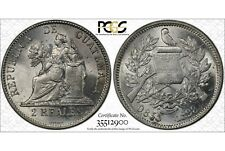 GUATEMALA , 2 REALES 1898  - PCGS MS 63 , RARE