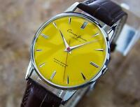 Citizen Junior Rare Japanese Made Yellow Dial Vintage 1960s Mens Manu Watch L178