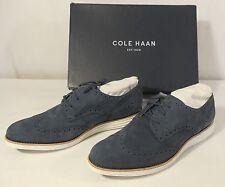 Cole Haan LunarGrand Suede Wingtip Oxfords, Blazer Blue, Size 10 B, D42795 - NWB