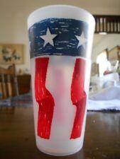 Americana Patriotic Flag Cooler Highball Tumblers 16 oz Plastic White Blue Red !