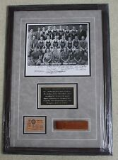 Milan Miracle of 1954 Milan Indians Hoosiers Bobby Plump Signed Framed Collage