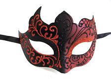 Black Red Venetian Mask Masquerade Mardi Gras Unique Style Men