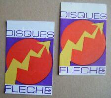 CLAUDE FRANCOIS - lot 2 stickers DISQUES FLÈCHE