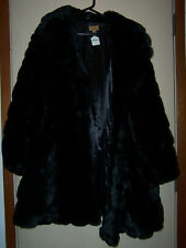 WOMENS MIDNIGHT VELVET FUZZY BLACK COAT SIZE 2X NEW WITH TAGS NWT $219.95