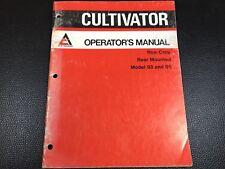 Original Allis Chalmers Operators Manual 93 95 Rear Mounted Row Crop Cultivator