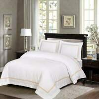 Premium Quality 100% Egyptian Cotton Sateen Embroidered Duvet Cover Sets 500TC
