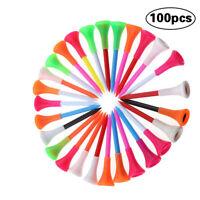 100 pcs Premium Plastic Golf Tees 3-1/4 Inch Durable Rubber Cushion Top Golf Tee
