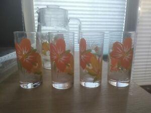 Kanne Glas Mit 4 Gläser