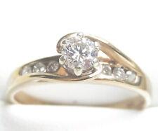 Beautiful Genuine 0.48ct Diamond Ring 9K Yellow Gold