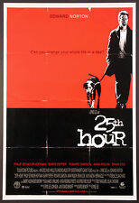 25TH HOUR EDWARD NORTON SPIKE LEE 2002 DS 1-SHEET NEAR MINT ROLLED
