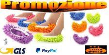 Ciabatte Mop pulizia microfibra casa vari colori pattine cattura polvere panno