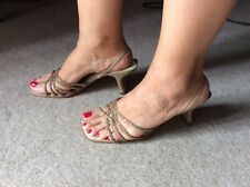 Nine West Women's Gold Sequenced Sandal 40