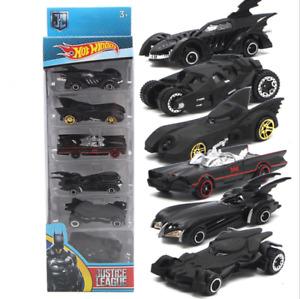 Set of 6 Batman Batmobile Car Model Toy Vehicle Metal Gift Kids Collection Gifts