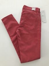 NWT Hudson Nico mid rise super skinny red jeans 26