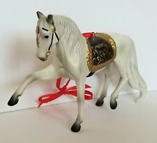 Breyer 700509 Andalusian Porcelain Holiday Horse Christmas Ornament - NWB
