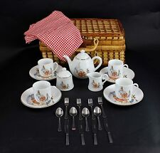 The World Of Beatrix Potter Peter Rabbit Warne & Co 31 Pc Children's Tea Set LB