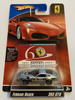 2007 Hotwheels Ferrari Racer 365 GTB/4 Daytona Silver 2/24 60th Anniversary MOC!
