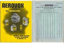 Aerovox 1952 Catalog MS 518 'AC Capacitors For Motor Driven Equipment...' +PL