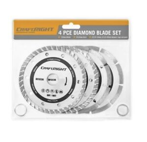 Craftright Diamond Blades - 4 Piece Set
