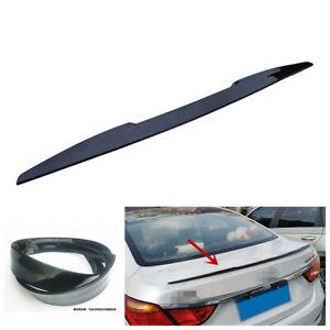 99CM PU Car Rear Roof Trunk Lip Spoiler Tail Wings Sticker For Sedan Hatchback