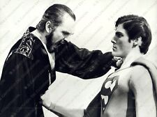 1980 Terence STAMP Christopher REEVE film Superman II Photo
